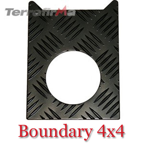 Land Rover Defender Chequer Plate Fuel Filler Surround FF-TDIB